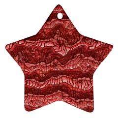 Alien Skin Red Star Ornament (Two Sides)