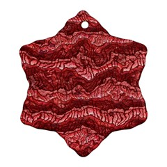 Alien Skin Red Snowflake Ornament (2 Side)