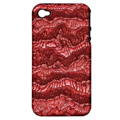 Alien Skin Red Apple iPhone 4/4S Hardshell Case (PC+Silicone)