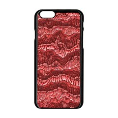 Alien Skin Red Apple iPhone 6/6S Black Enamel Case