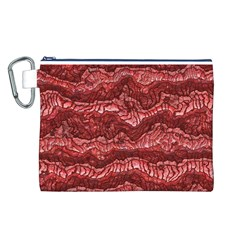Alien Skin Red Canvas Cosmetic Bag (L)