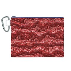 Alien Skin Red Canvas Cosmetic Bag (XL)