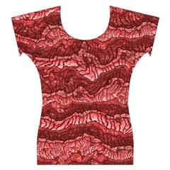 Alien Skin Red Women s Cap Sleeve Top