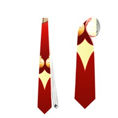 Funny, Cute Christmas Owl  With Christmas Hat Neckties (Two Side)