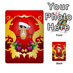 Funny, Cute Christmas Owl  With Christmas Hat Multi-purpose Cards (Rectangle)