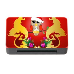 Funny, Cute Christmas Owl  With Christmas Hat Memory Card Reader With Cf