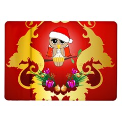 Funny, Cute Christmas Owl  With Christmas Hat Samsung Galaxy Tab 10.1  P7500 Flip Case