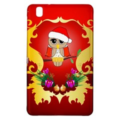Funny, Cute Christmas Owl  With Christmas Hat Samsung Galaxy Tab Pro 8.4 Hardshell Case