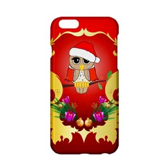 Funny, Cute Christmas Owl  With Christmas Hat Apple iPhone 6/6S Hardshell Case