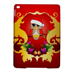 Funny, Cute Christmas Owl  With Christmas Hat iPad Air 2 Hardshell Cases