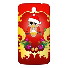 Funny, Cute Christmas Owl  With Christmas Hat Samsung Galaxy Mega I9200 Hardshell Back Case