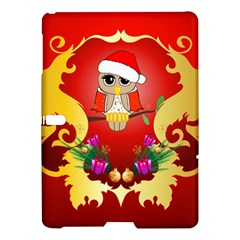 Funny, Cute Christmas Owl  With Christmas Hat Samsung Galaxy Tab S (10 5 ) Hardshell Case