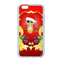 Funny, Cute Christmas Owl  With Christmas Hat Apple Seamless iPhone 6/6S Case (Color)