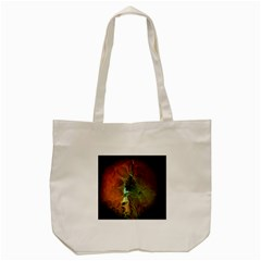 Beautiful Abstract Floral Design Tote Bag (Cream)
