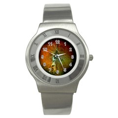 Beautiful Abstract Floral Design Stainless Steel Watches