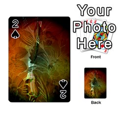 Beautiful Abstract Floral Design Playing Cards 54 Designs