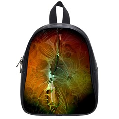 Beautiful Abstract Floral Design School Bags (Small)