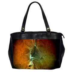 Beautiful Abstract Floral Design Office Handbags (2 Sides)