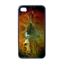 Beautiful Abstract Floral Design Apple iPhone 4 Case (Black)