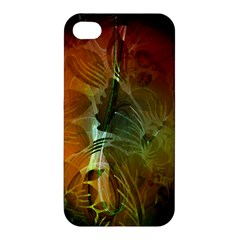 Beautiful Abstract Floral Design Apple iPhone 4/4S Hardshell Case