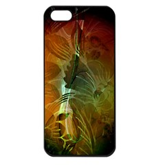 Beautiful Abstract Floral Design Apple iPhone 5 Seamless Case (Black)