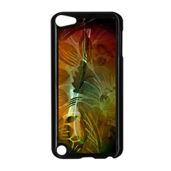 Beautiful Abstract Floral Design Apple iPod Touch 5 Case (Black)