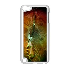 Beautiful Abstract Floral Design Apple iPod Touch 5 Case (White)