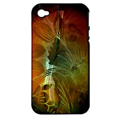 Beautiful Abstract Floral Design Apple iPhone 4/4S Hardshell Case (PC+Silicone)