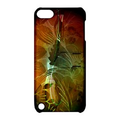 Beautiful Abstract Floral Design Apple iPod Touch 5 Hardshell Case with Stand
