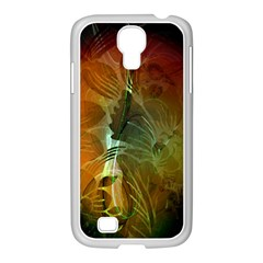 Beautiful Abstract Floral Design Samsung GALAXY S4 I9500/ I9505 Case (White)