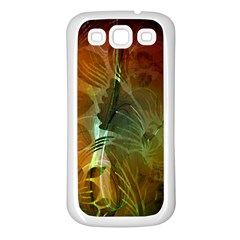 Beautiful Abstract Floral Design Samsung Galaxy S3 Back Case (White)