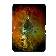 Beautiful Abstract Floral Design Samsung Galaxy Tab 2 (10.1 ) P5100 Hardshell Case