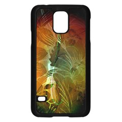 Beautiful Abstract Floral Design Samsung Galaxy S5 Case (Black)