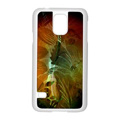 Beautiful Abstract Floral Design Samsung Galaxy S5 Case (White)