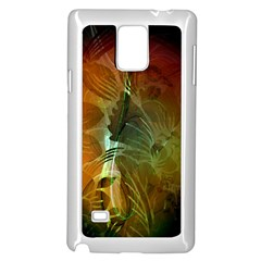 Beautiful Abstract Floral Design Samsung Galaxy Note 4 Case (White)