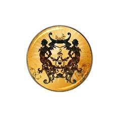 Clef With Awesome Figurative And Floral Elements Hat Clip Ball Marker