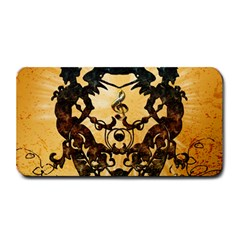 Clef With Awesome Figurative And Floral Elements Medium Bar Mats
