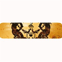 Clef With Awesome Figurative And Floral Elements Large Bar Mats
