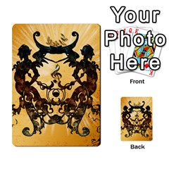 Clef With Awesome Figurative And Floral Elements Multi-purpose Cards (Rectangle)