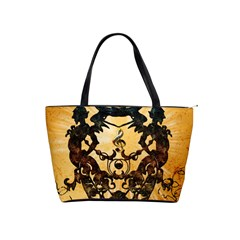 Clef With Awesome Figurative And Floral Elements Shoulder Handbags