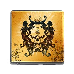 Clef With Awesome Figurative And Floral Elements Memory Card Reader (Square)