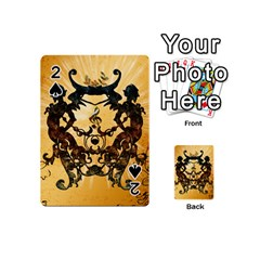 Clef With Awesome Figurative And Floral Elements Playing Cards 54 (Mini)