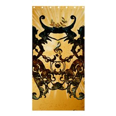 Clef With Awesome Figurative And Floral Elements Shower Curtain 36  x 72  (Stall)