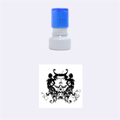 Clef With Awesome Figurative And Floral Elements Rubber Round Stamps (Small)