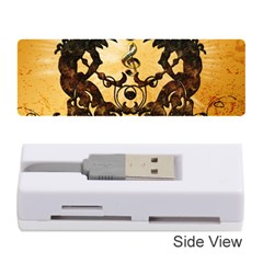 Clef With Awesome Figurative And Floral Elements Memory Card Reader (Stick)