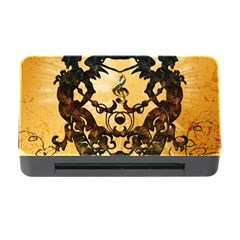 Clef With Awesome Figurative And Floral Elements Memory Card Reader with CF