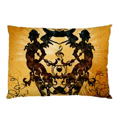 Clef With Awesome Figurative And Floral Elements Pillow Cases (two Sides)