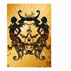 Clef With Awesome Figurative And Floral Elements Small Garden Flag (Two Sides)
