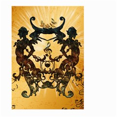 Clef With Awesome Figurative And Floral Elements Large Garden Flag (two Sides)