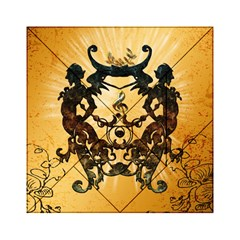 Clef With Awesome Figurative And Floral Elements Acrylic Tangram Puzzle (6  x 6 )